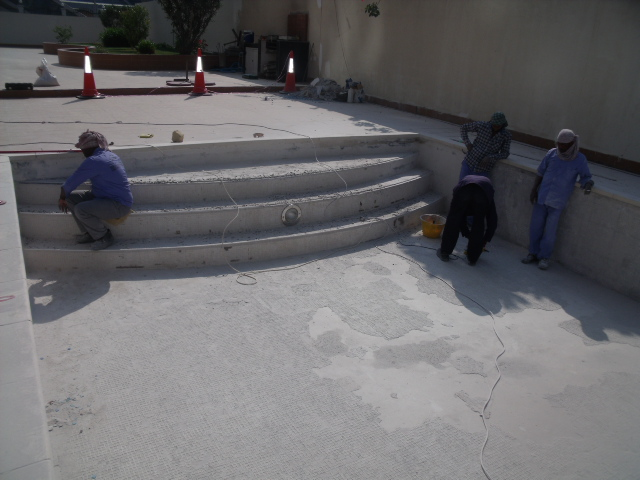 Pool service amc, pool re tiling